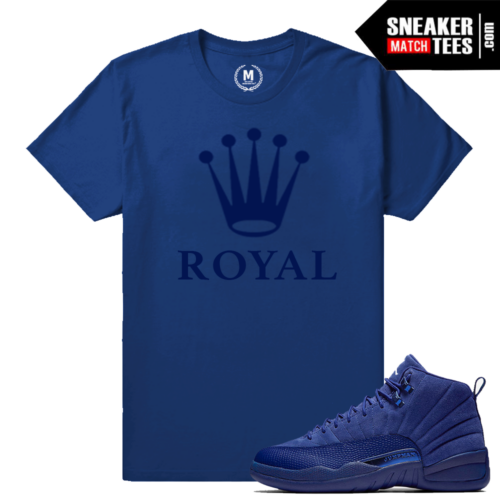 Blue Suede 12 Retro Jordan T shirt