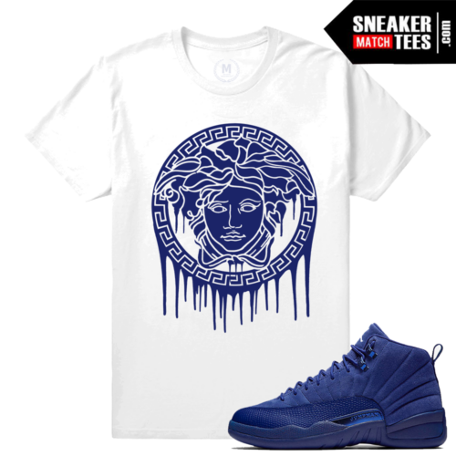 Blue Suede 12s shirt Match