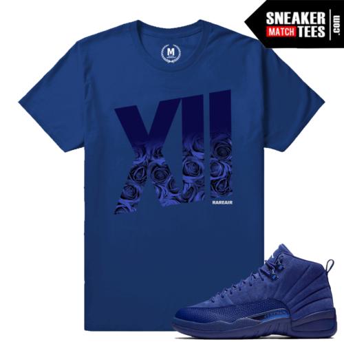 Blue Suede 12s match shirt