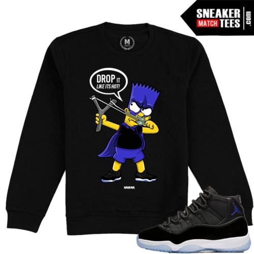 Jordan 11 Space Jam Crewneck Sweater Match