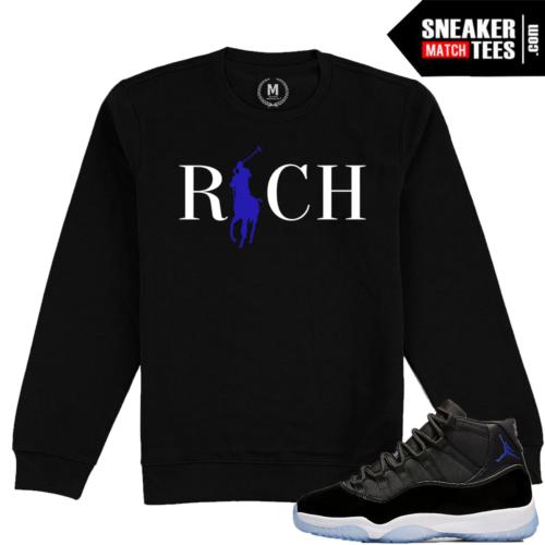 Jordan 11 Space Jam Crewneck Sweatshirt Matching