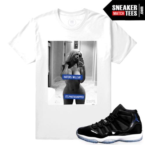 Jordan 11 Space Jam Retros Sneaker Tees Match