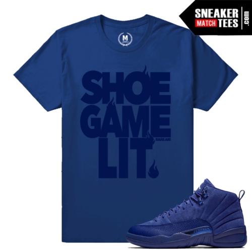 Jordan 12 Blue Suede Color T shirt