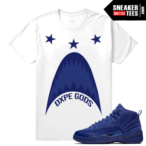 Jordan 12 Blue Suede Deep Royal T shirt