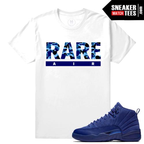 Jordan 12 Blue Suede Match T shirts