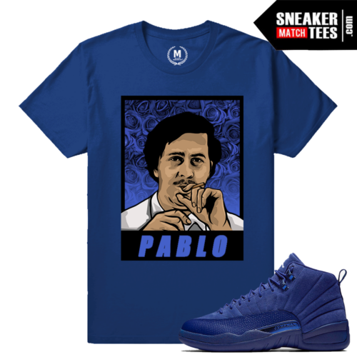 Jordan 12 Blue Suede T shirt