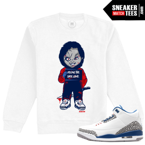 Jordan 3 True Blue Match Crewneck