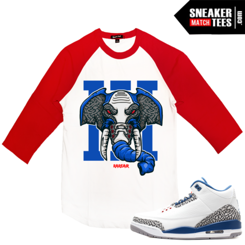 Jordan 3 True Blue Match Raglan Shirt