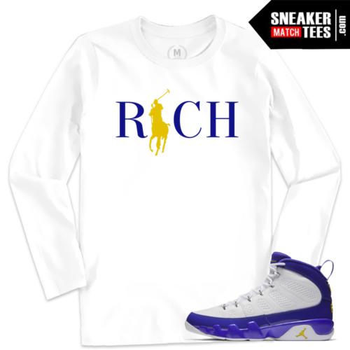 Jordan 9 Kobe Match Long Sleeve Tee Shirt