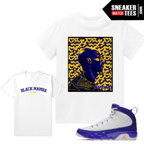 Jordan 9 Kobe Matching Sneaker tee Shirt