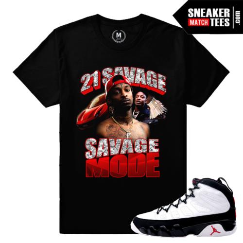 Jordan 9 OG Matching T shirt 21 Savage