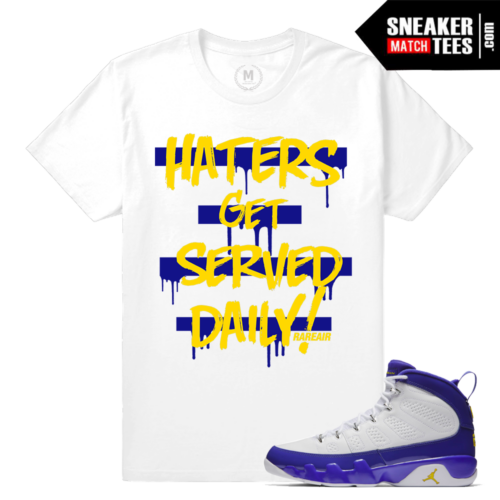 Jordan 9 Tour Yellow Sneaker Tees Match