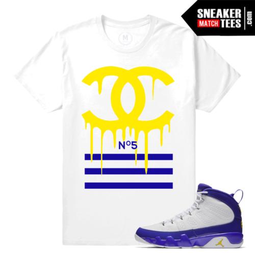 Jordan 9 Sneaker Tee Match Kobe 9