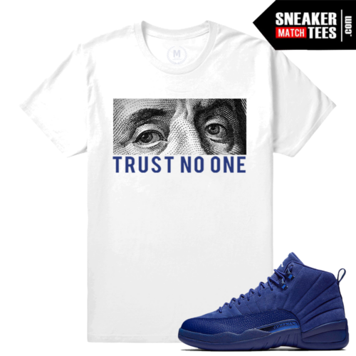 Jordan T shirt Blue Suede 12 Sneaker Match