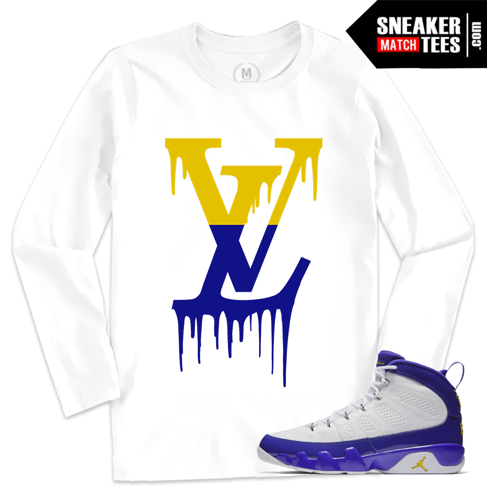 Match jordan retro 9 kobe long sleeve t shirt sneaker for Retro long sleeve t shirts