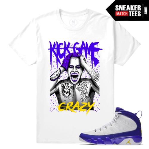 Match Kobe Jordan 9s Sneaker shirts
