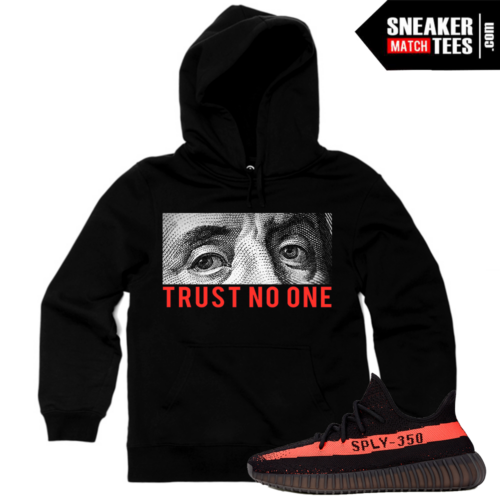 Matching Yeezy Boost 350 Black Red Hoodie