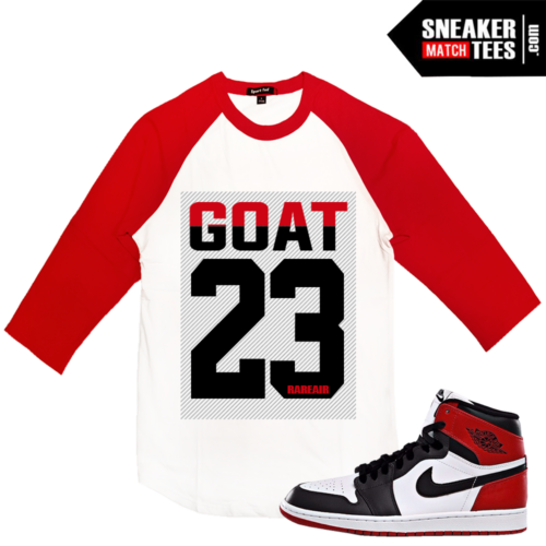 Raglan Shirt Match Jordan 1 Black toe