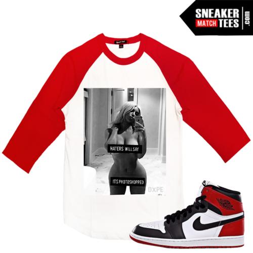 Raglan shirt Match Black Toe Jordans