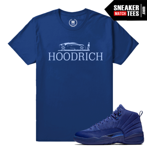 Shirt Match Blue Suede 12s