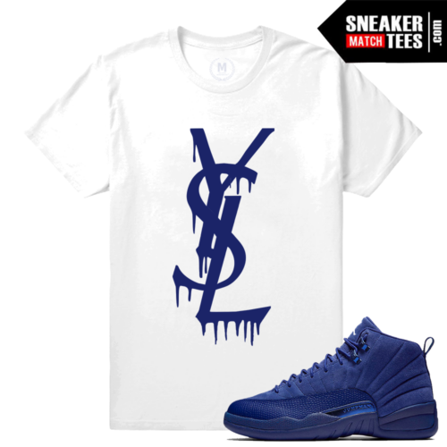 Shirt Match Jordan 12 Blue Suede Tees