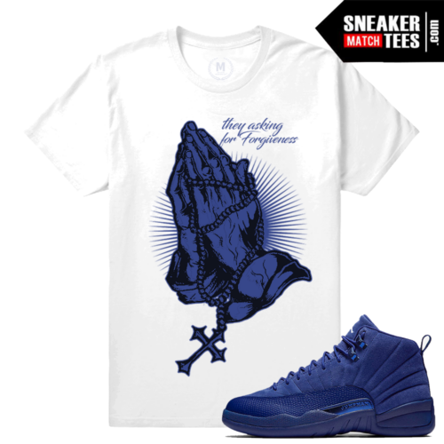 Shirts Match Jordan 12s Blue Suede
