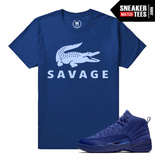 shirts Match Jordan 12 Blue Suede Sneakers