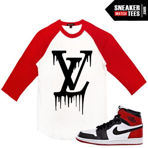 Shirts Matching Jordan 1 Black toe Retros