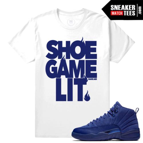 Sneaker Match Jordan 12 Blue Suede