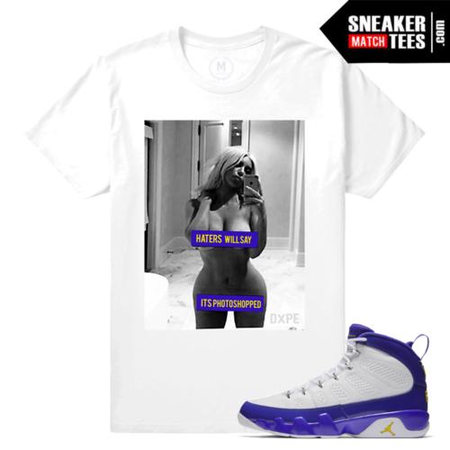 Sneaker Shirt Matching Jordan Kobe 9s
