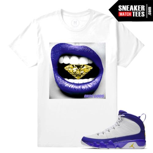 Sneaker Tee Shirt Jordan 9 Kobe Matching