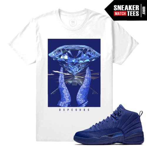 Sneaker tees Blue Suede 12 Retro Jordans