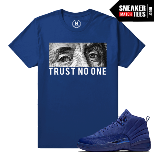 Sneaker Tees Match Deep Royal Blue Suede 12s