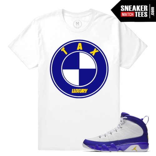 Sneaker Tees Match Jordan 9 Tour Yellow Shirt