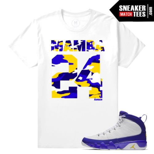 Sneaker Tees Shirt Match Jordan 9 Kobe