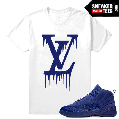 Sneaker Tees Match Jordan 12 Blue Suede Retro
