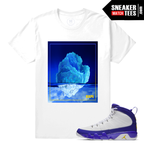 Sneaker Tees Matching Jordan 9 Kobe