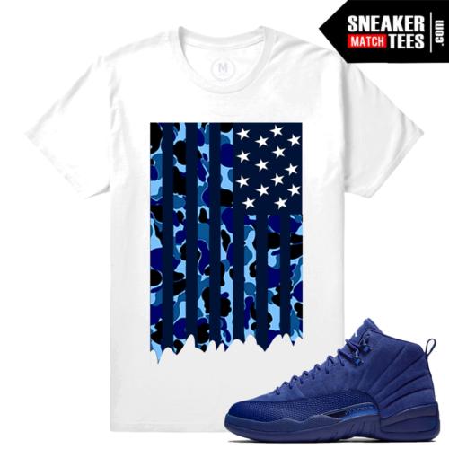Sneaker Tees Match Jordan 12 Blue Suede