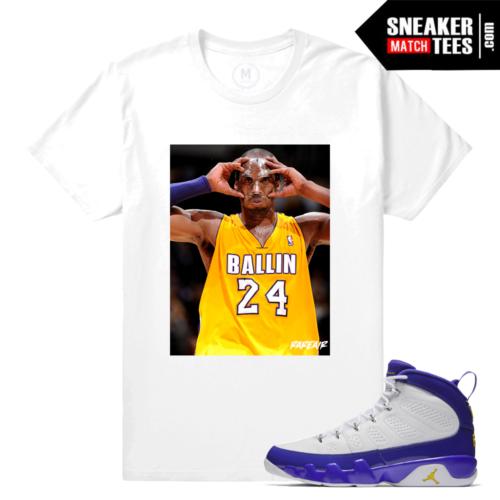 T shirt Match Jordan 9 Kobe Retro Jordans