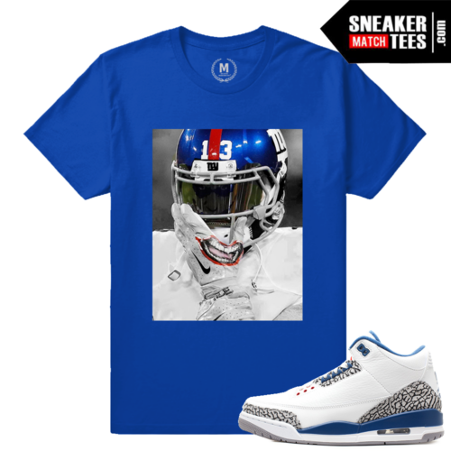 True Blue 3s Matching Odell Beckham Jr Joker T shirt