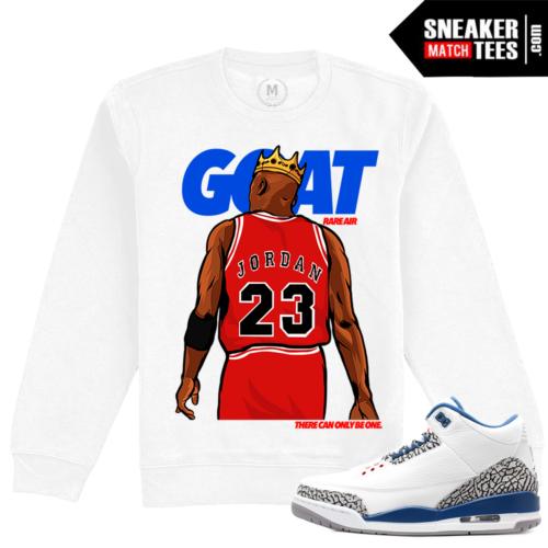 True Blue Jordan 3s Crewneck