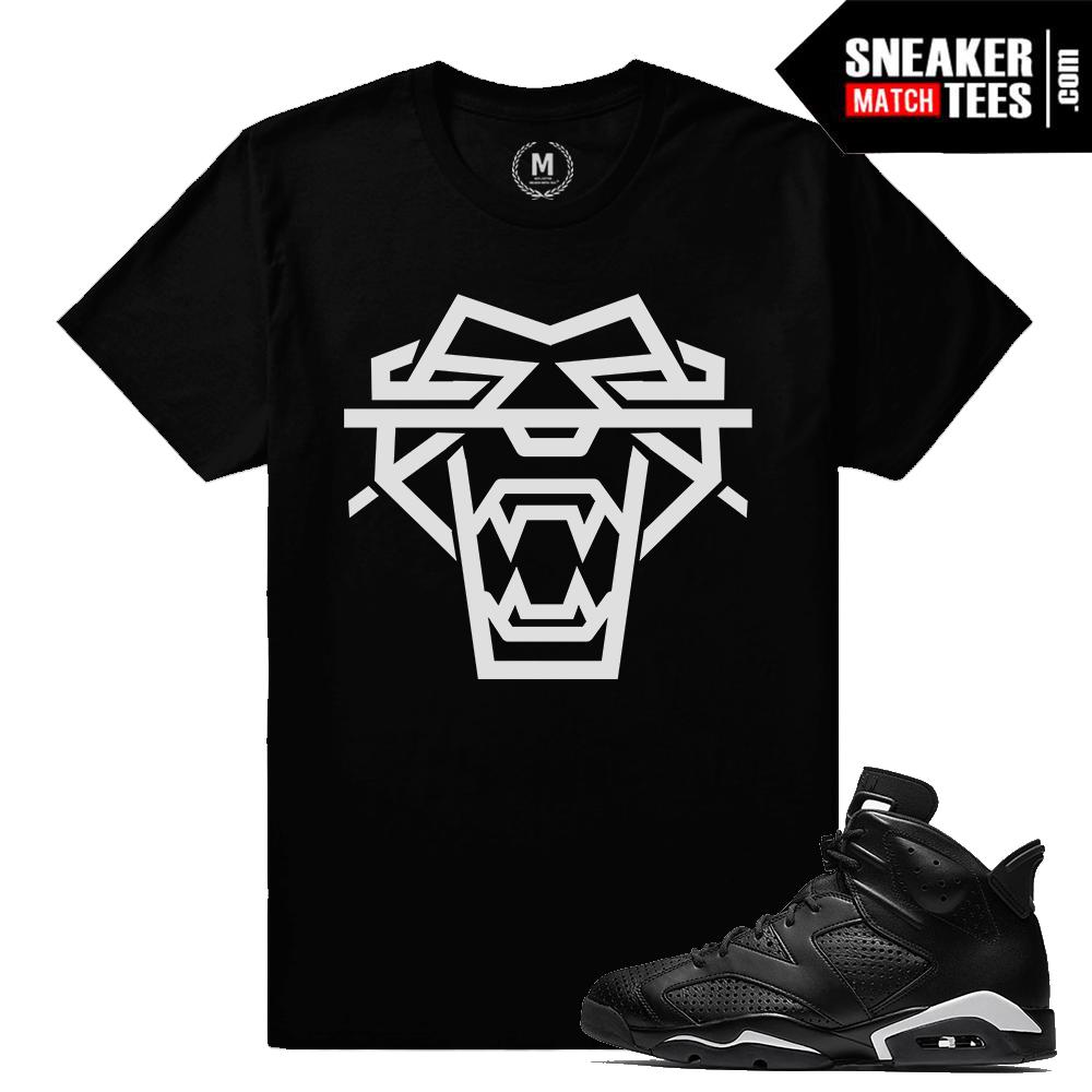 Black Cat 6s Match Sneaker Tee Shirt