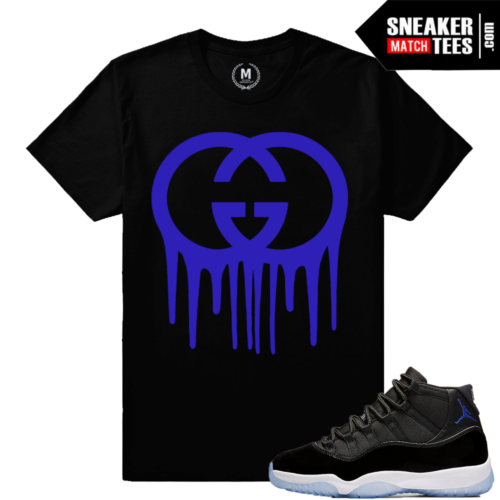 Jordan 11 Space Jam Sneaker Match Tees Concord Purple