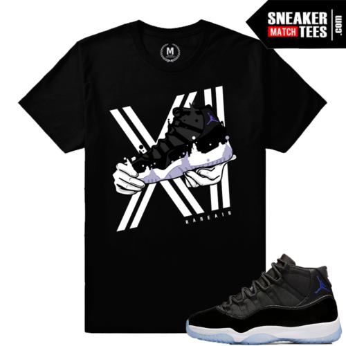 Jordan 11 Space Jam t shirt Matching Retro 11 Sneakers
