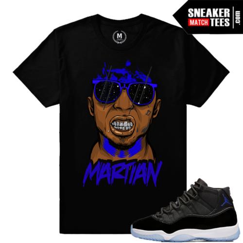 Jordan 11 Space Jam tee matching sneakers