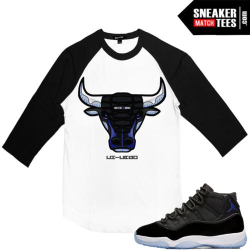 Jordan 11 Space Jam Matching Raglan Shirt