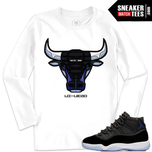 Jordan 11 Space Jam Matching Shirt Clothing