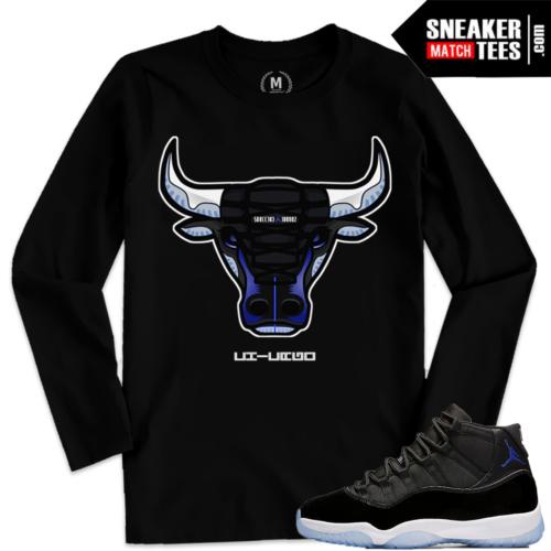 Jordan 11 Space Jams Shirts