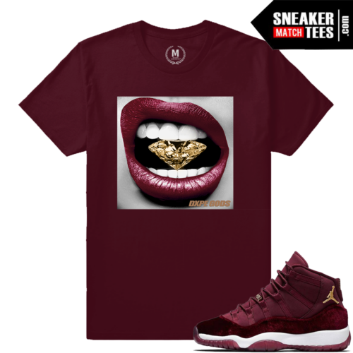 Jordan 11 Velvet Maroon Match Sneaker Tees