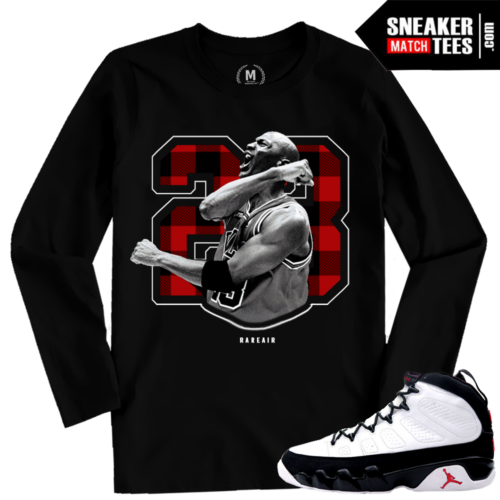 Jordan 9 OG Matching Long Sleeve T shirt